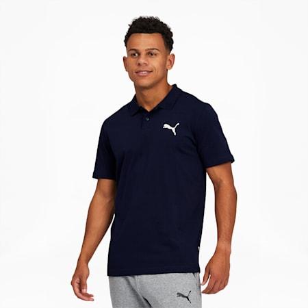 Essentials Men's Jersey Polo, Peacoat, small