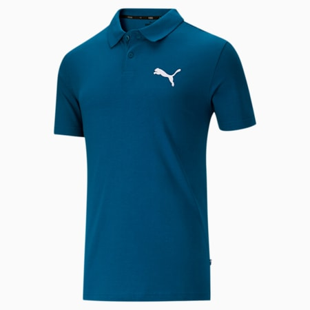 Essentials Men's Jersey Polo, Digi-blue, small