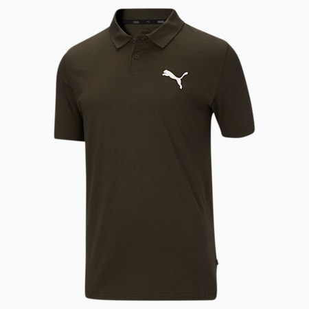 Essentials Men's Jersey Polo, Forest Night, small