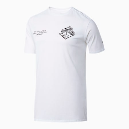 Counted Out Men's Tee, Puma White, small