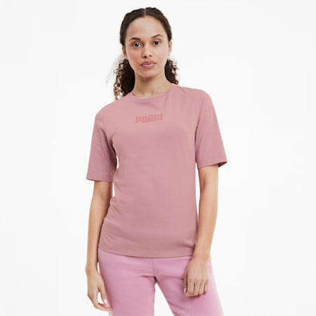 モダン べージックス ウィメンズ 半袖 Tシャツ, Foxglove, small-JPN
