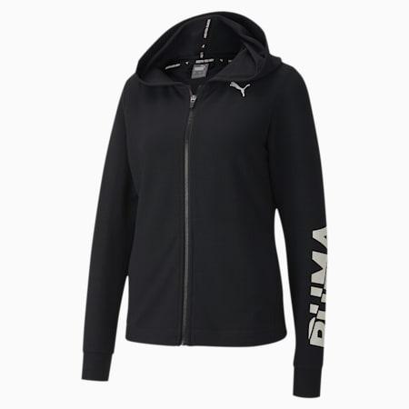 モダン スポーツ ロゴ ウィメンズ フーデッド スウェット ジャケット, Puma Black, small-JPN