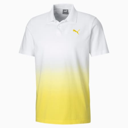 Dyed Men's Polo, Puma White, small