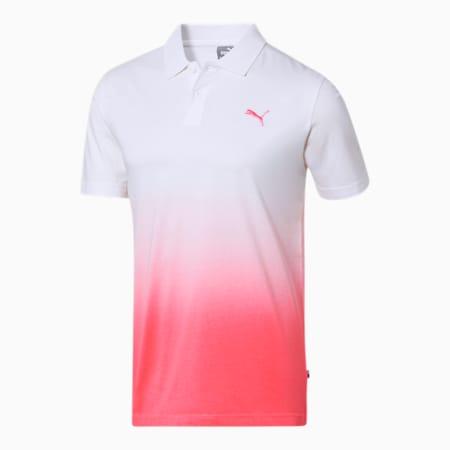 Dyed Men's Polo, Puma White-Bubblegum, small-SEA