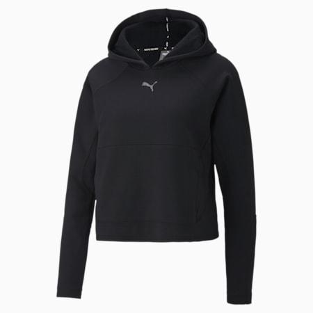 EVOSTRIPE ウィメンズ スウェット フーディー, Puma Black, small-JPN