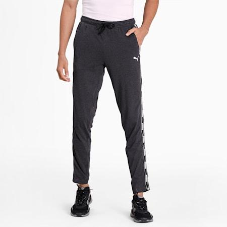 Tape Jersey Men's Pants, Dark Gray Heather, small-IND