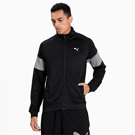 Poly Full Zip Men's Jacket, Puma Black, small-IND