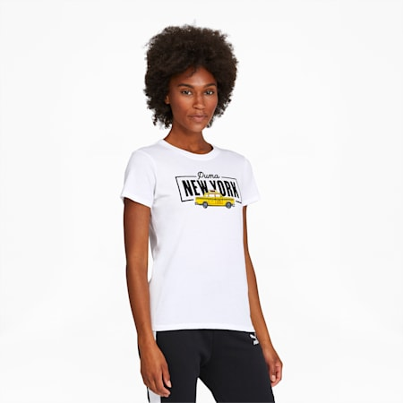 NYC Taxi Women's Tee, Puma White, small