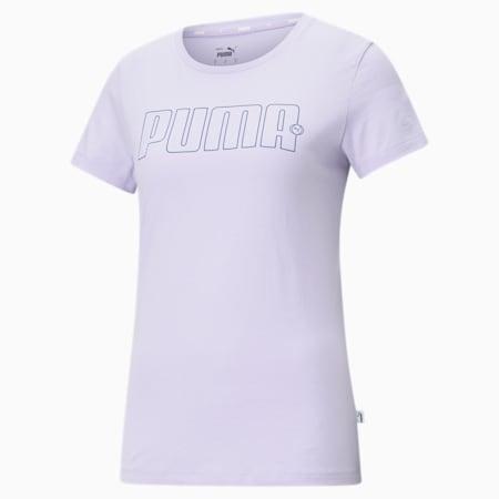 Rebel Graphic Regular Fit Women's  T-shirt, Light Lavender, small-IND