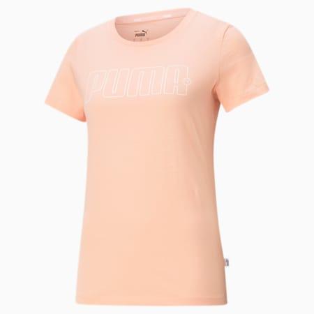 Rebel Graphic Women's Tee, Apricot Blush, small-SEA