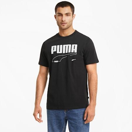 Męski T-shirt Rebel, Puma Black, small