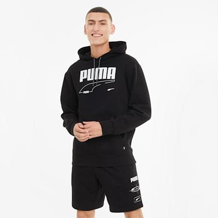 Rebel Men's Hoodie, Puma Black, small