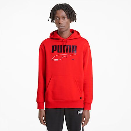 Rebel Men's Hoodie, High Risk Red, small