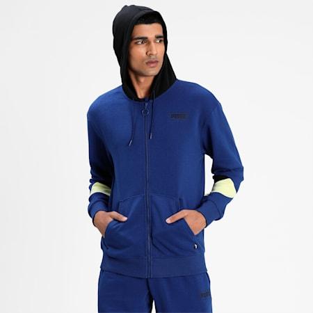 Rebel Full-Zip Men's Hoodie, Elektro Blue, small-IND