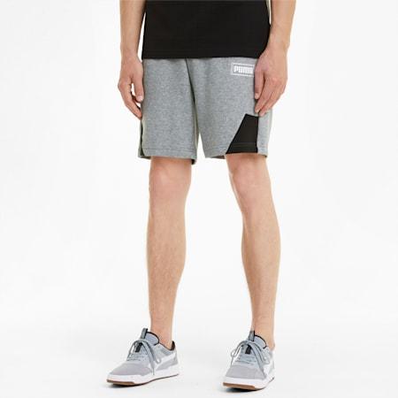 Rebel Herren Shorts, Medium Gray Heather, small
