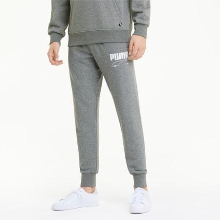 Rebel Men's Sweatpants, Medium Gray Heather, small