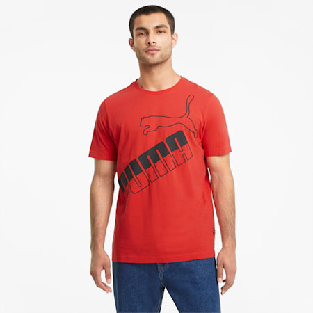 Big Logo Men's Tee, High Risk Red, small-GBR