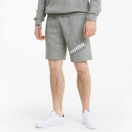 Big Logo Men's Shorts, Medium Gray Heather, small