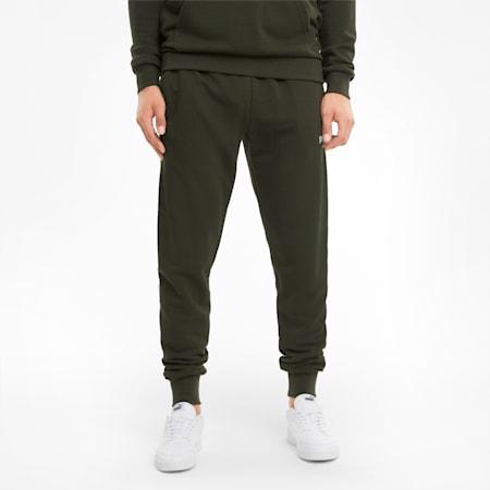 Pantaloni con logo grande uomo, Forest Night, small
