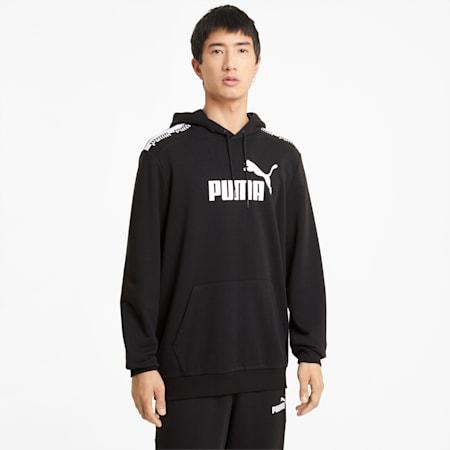 Felpa con cappuccio Amplified uomo, Puma Black, small