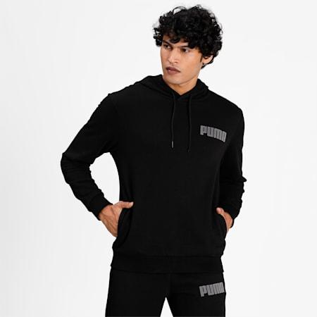 Modern Basics Men's Hoodie, Puma Black, small-IND