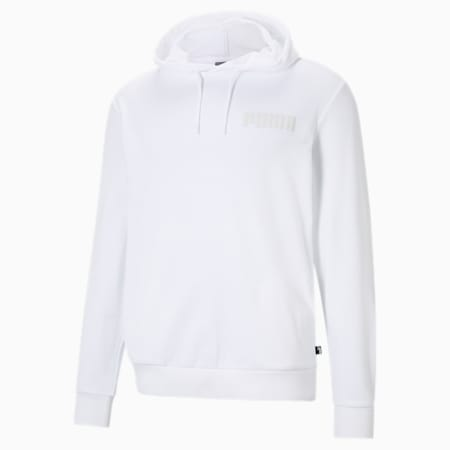 Modern Basics Men's Hoodie, Puma White, small-IND