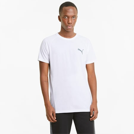 Evostripe T-shirt heren, Puma White, small
