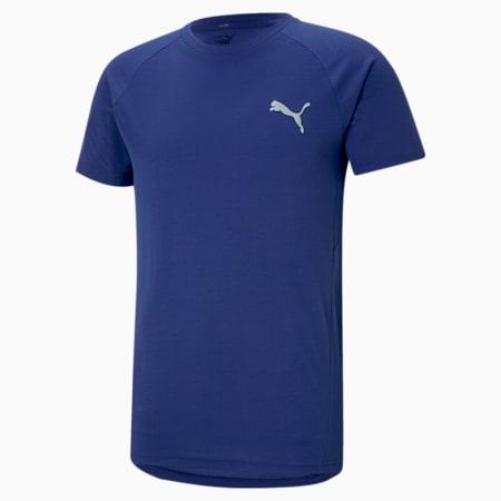 Evostripe Men's Slim T-shirt, Elektro Blue, small-IND