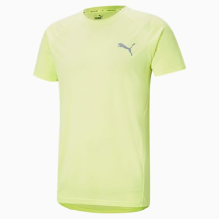 Evostripe Men's Slim T-shirt, SOFT FLUO YELLOW, small-IND