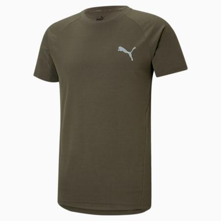 Evostripe Men's Slim T-shirt, Forest Night, small-IND