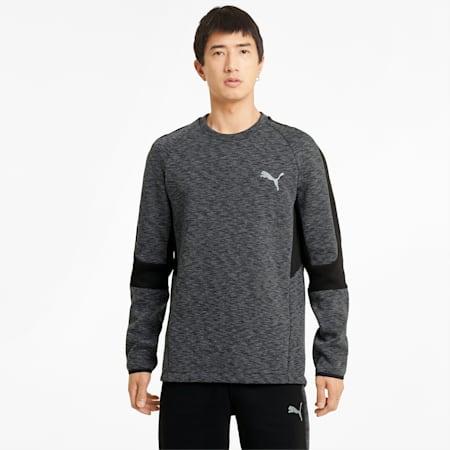 Evostripe sweater met ronde hals heren, Puma Black, small