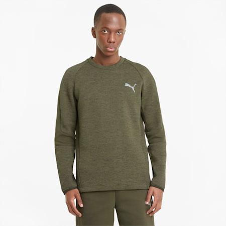 Evostripe Crew Neck Men's Sweater, Forest Night, small-GBR