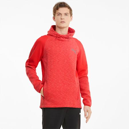 Evostripe hoodie heren, High Risk Red, small