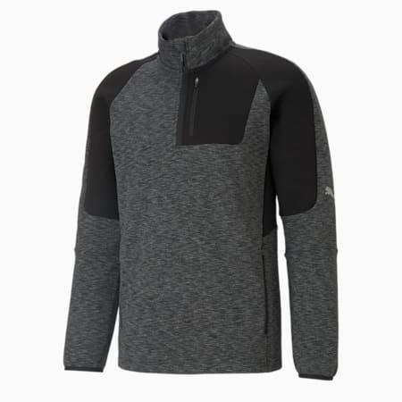 Evostripe Half-Zip Men's Slim Sweater, Puma Black, small-IND