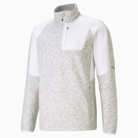 Evostripe Half-Zip Men's Slim Sweater, Puma White, small-IND