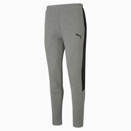 Evostripe Slim Fit Men's Sweat Pants, Medium Gray Heather, small-IND