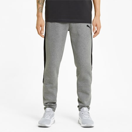 Evostripe Men's Sweatpants, Medium Gray Heather, small