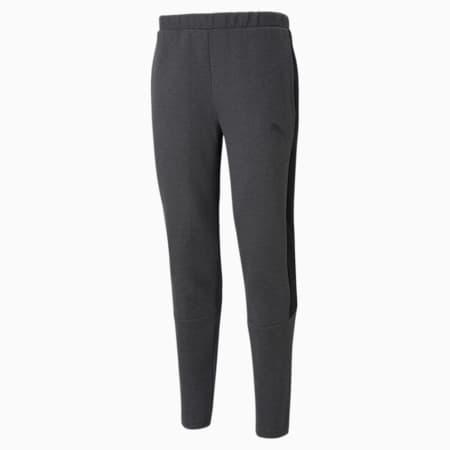 Evostripe Slim Fit Men's Sweat Pants, Dark Gray Heather, small-IND