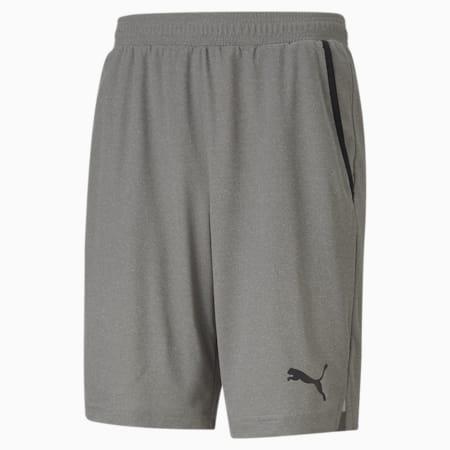 RTG Interlock Knitted Men's Shorts, Medium Gray Heather, small-IND