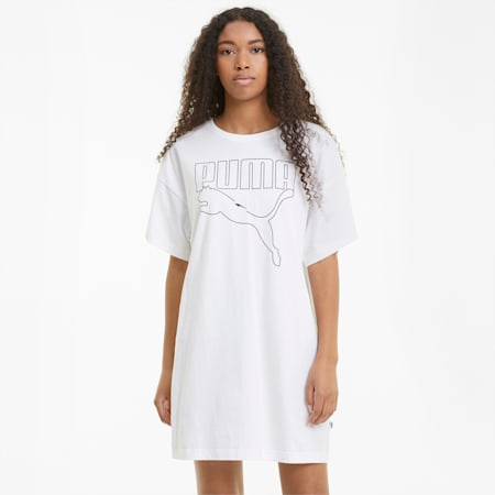 Rebel Women's Tee Dress, Puma White, small
