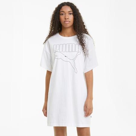 Rebel Women's Tee Dress, Puma White, small-GBR