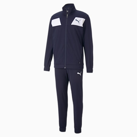 Techstripe Tricot Men's Tracksuit, Peacoat, small-GBR