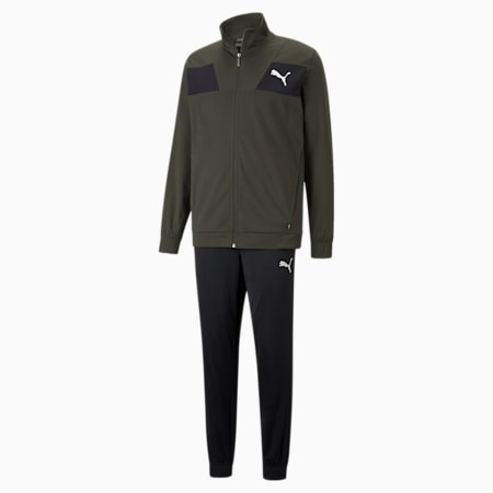 Techstripe Tricot Men's Tracksuit, Forest Night, small-GBR