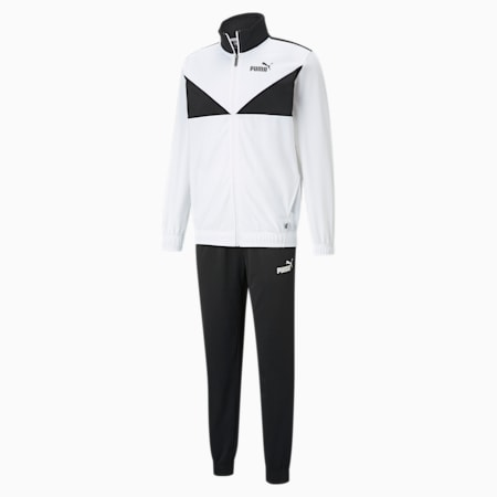 Classic Tricot Men's Tracksuit, Puma White, small-IND
