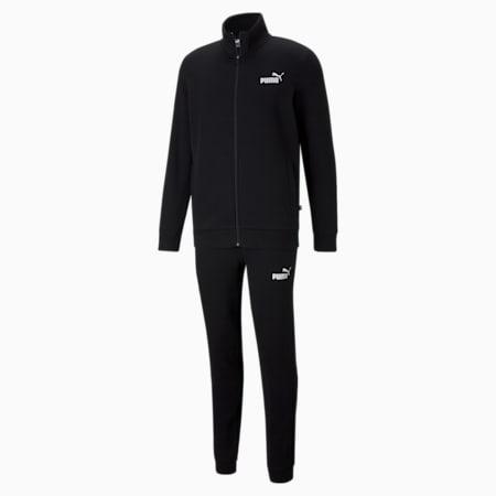Clean Slim Fit Men's Track Suit, Puma Black, small-IND