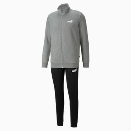 Clean Slim Fit Men's Track Suit, Medium Gray Heather, small-IND