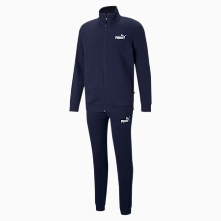 Clean Slim Fit Men's Track Suit, Peacoat, small-IND