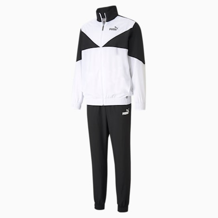 Woven Men's Tracksuit, Puma White, small-GBR
