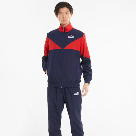 Woven Men's Tracksuit, Peacoat, small-GBR