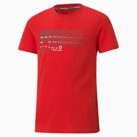 Active Sports Graphic Youth Tee, High Risk Red, small-SEA